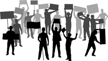 Streikende illustriert