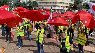 Handelsstreik Berlin-Brandenburg am 02.07.2021