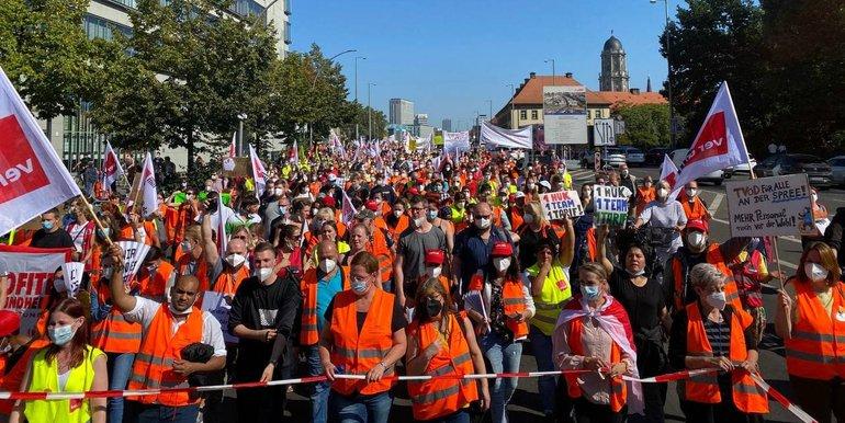 Streik bei Vivantes, Charité und Vivantes-Töchtern wird fortgesetzt