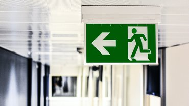 Exit Notausgang Schild Stop Ausweg Lösung